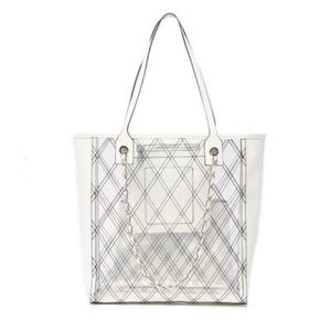 Steve Madden White Bclary Tote, NWT.